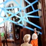 5 Actividades para niños indoor, con cinta adhesiva.