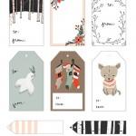 5 etiquetas navideñas imprimibles